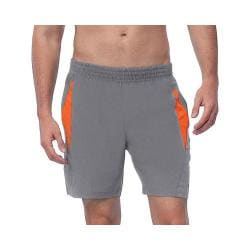 Men's Fila Relay Short Pewter/Cone Orange