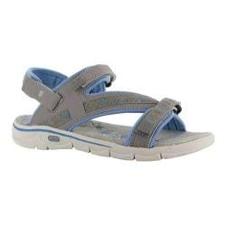 Women's Hi-Tec Soul-Riderz Life Strap Active Sandal Warm Grey/Cornflower Leather