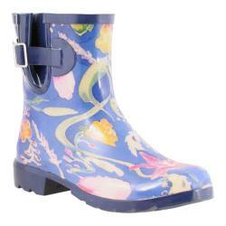 Women's Nomad Droplet Rain Boot Black Multi Paisley