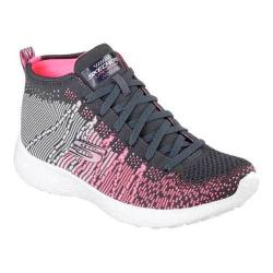 Women's Skechers Burst Sweet Symphony High Top Charcoal/Pink 17643094