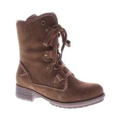 Women's Spring Step Bridge Lace Up Boot Light Brown Suede