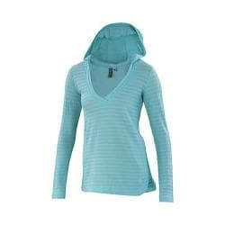 Women's Ibex Shadow Stripe Hoody Sea Glass