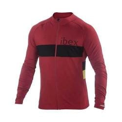 Men's Ibex Spoke Long Sleeve Full Zip Cycling Jersey Rhubarb