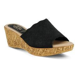 Women's Spring Step Pala Slide Black Nubuck