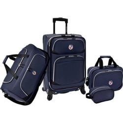 Beverly Hills Country Club San Vincente 4-Piece Luggage Set Navy