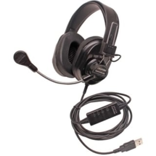 Califone Deluxe Multimedia Stereo Headsets w/Mic, USB Via Ergoguys