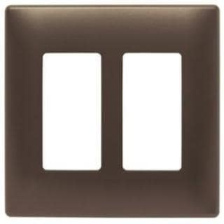 Pass & Seymour Two-Gang Screwless Decorator Wall Plate, Dark Bronze