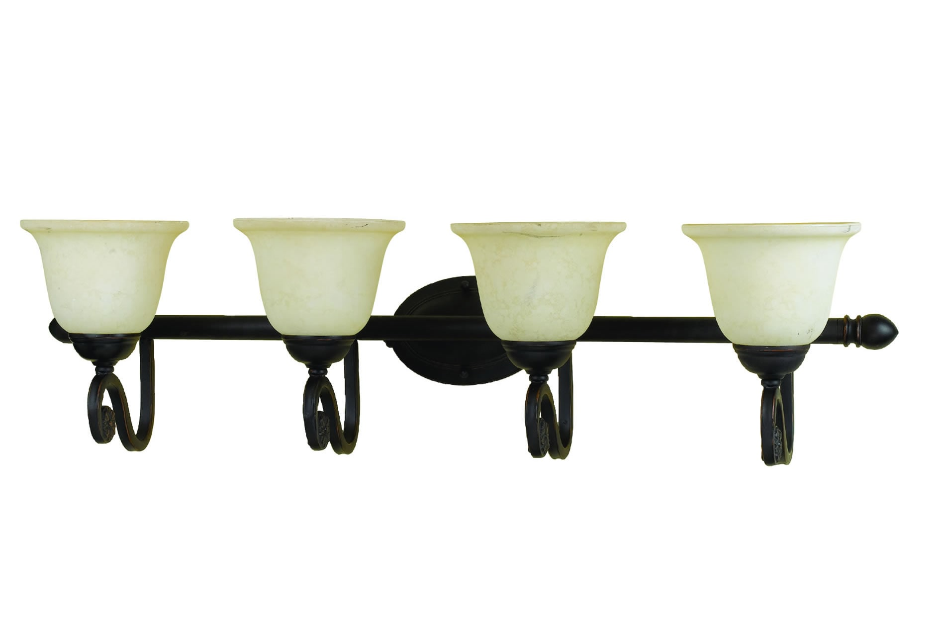 Harmony 4-light Oil-rubbed Bronze Vanity Fixture 7202912