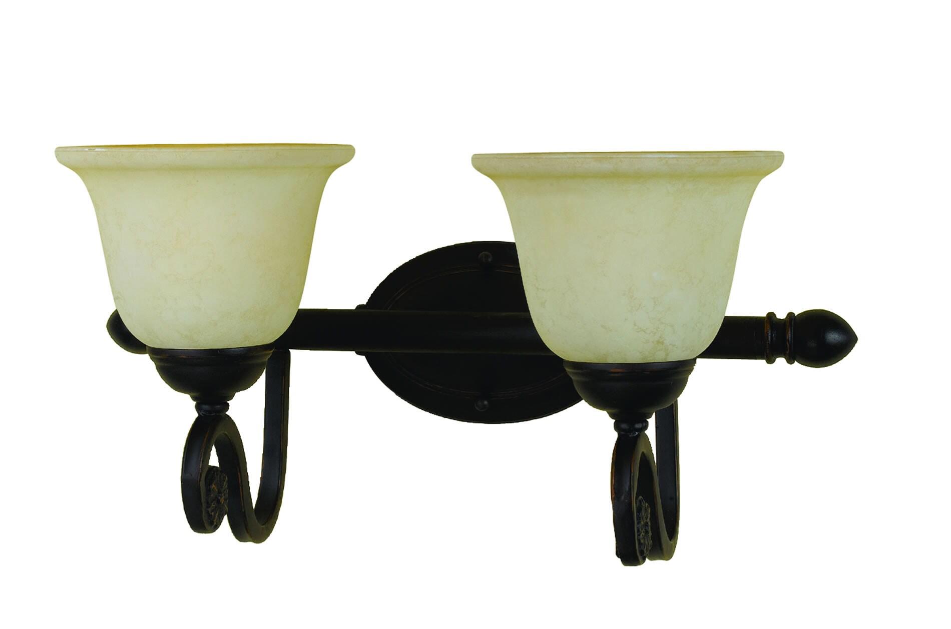 Harmony 2-light Oil-rubbed Bronze Vanity Fixture 7202913