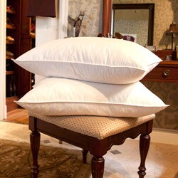 Jessica McClintock White Goose Feather Pillows (Set of 2)