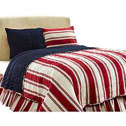 Camden Red 2-piece Twin Quilt Set