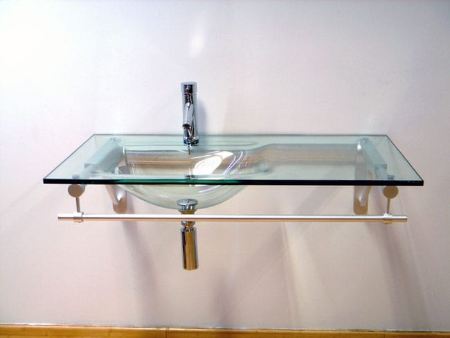 Tempered Glass Vanity Top With Integrated Sink Vanity Ideas