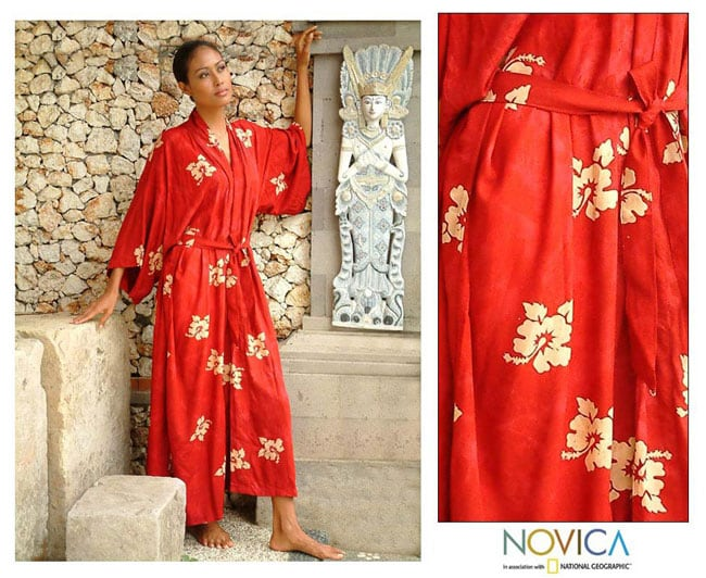 Red Passion Batik Robe