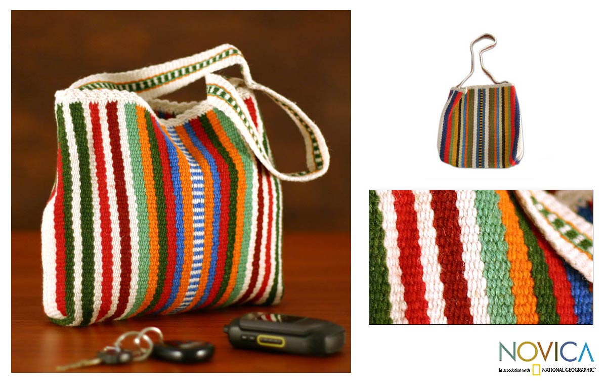 Rebel Colors Wool Handbag (Peru) : Apparel, Shoes & Access. from Overstock.com