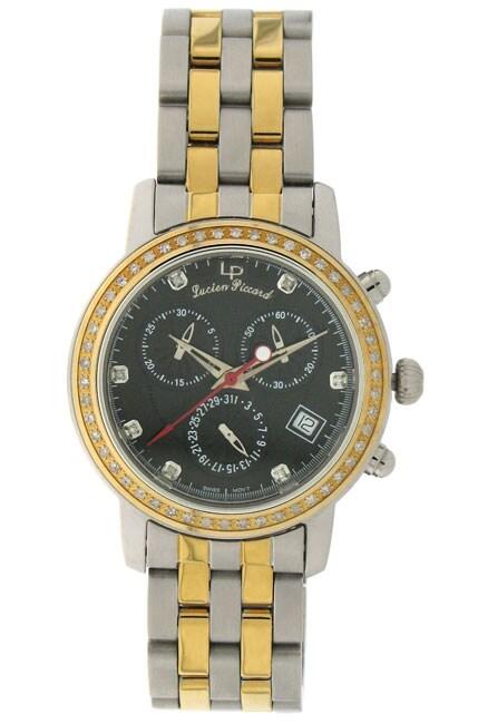 Lucien Piccard 'Monarch' Men's Diamond Watch