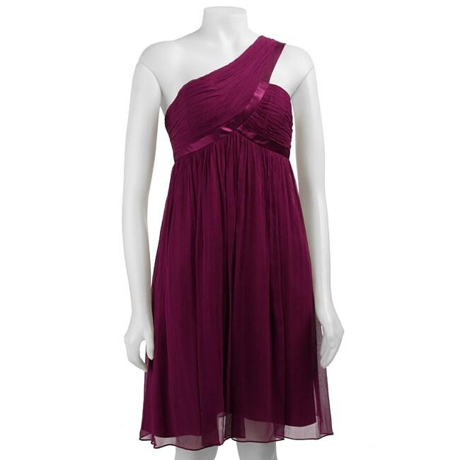 Donna Morgan crinkle chiffon dress @ Overstock.com
