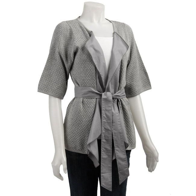 BCBGeneration Women's Short-sleeve Cardigan Wrap from Overstock.com :  short sleeves cardigan grey wrap