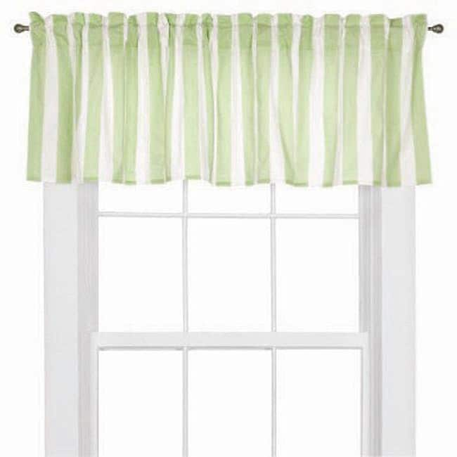 Bacati Flower Basket Lilac/ Green Valance