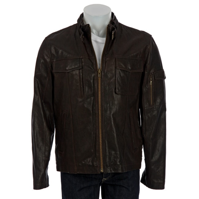 Overstock - Cole Haan Lambskin Leather Motorcycle Jacket - $231.99