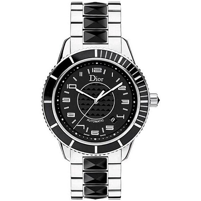 Christian Dior Unisex Women's Christal Black Sapphire Watch