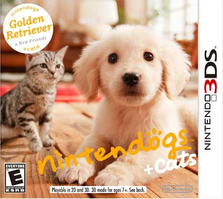 NinDS 3DS - Nintendogs + Cats: Golden Retriever & New Friends