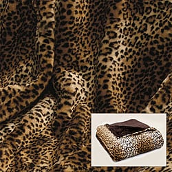 Leopard Print Faux Fur Throw
