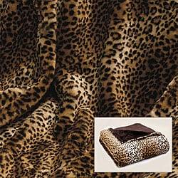 Leopard Print Faux Fur Throw