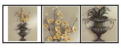 Floral Centerpiece Metal Wall Art : Home Decor from Overstock.com :  floral home metal decor