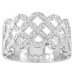 14-kt. White Gold & 1/2-ct. TW Diamond Filigree Ring : Jewelry from Overstock.com from overstock.com