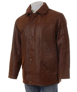 Giovanni Verucci Men's Top Grain Leather Coat