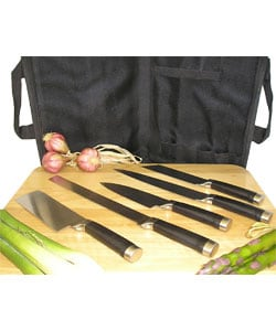 Stainless Steel Five-piece Sushi Knife Set