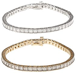 14k Gold 3ct Diamond Tennis Bracelet