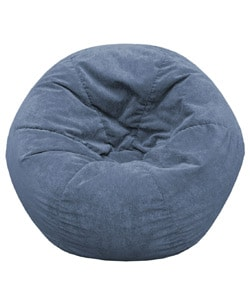 Gold Medal Blue Sueded Corduroy Teen Beanbag