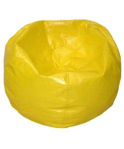Gold Medal Deluxe Vinyl Teen Yellow Beanbag Chair