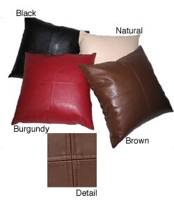 Metro Faux Leather 20-inch Pillows (Set of 2)