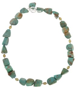 Sterling Silver Turquoise Bead Necklace turquoise bead necklace