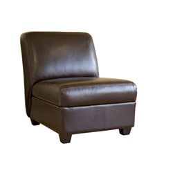Mocha Brown Faux Leather Chair