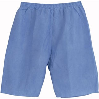 Medline Exam Shorts, SMS, Blue, Large (bulk pack of 30)