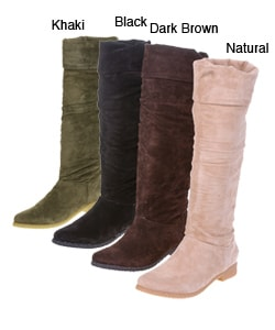 On Your Feet Maldives Women's Tall Suede Flat Boots