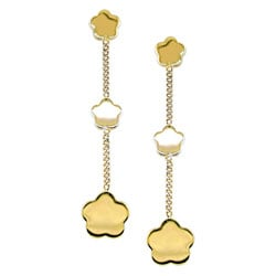 14k Yellow Gold Flower Drop Earrings