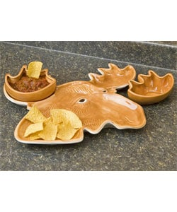 Elmer Moose Chip & Dip Serving Tray Set : Kitchen & Dining from Overstock.com :  set dining serving kitchen