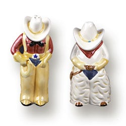 Cowboy & Cowgirl Salt & Pepper Shaker Set : Kitchen & Dining from Overstock.com