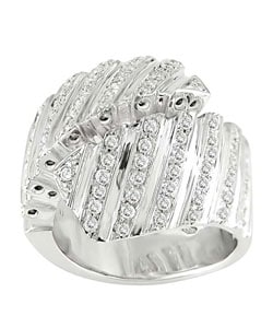 18 White Gold 1ct TDW Diamond Spiral Ring