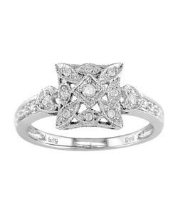 14k White Gold 1/6ct TDW Diamond Lightweight Ring (I-J, I2-I3)