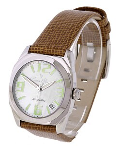 Lucien Piccard Unisex Automatic Brown Strap Watch