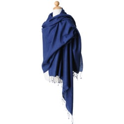 Twilight Blue Pashmina and Silk Shawl
