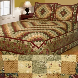 Alpine Cotton Patchwork Bedspread Set