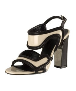 Balenciaga Beige Patent Leather Sandals : Designer Store from Overstock.com :  leather balenciaga beige patent
