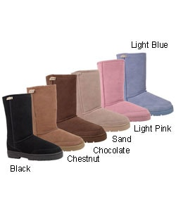 Bearpaw Sheepskin 10-inch Boot with Lug Sole