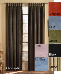 Microsuede Tab Top Curtain Panel  (50 in. x 84 in.)